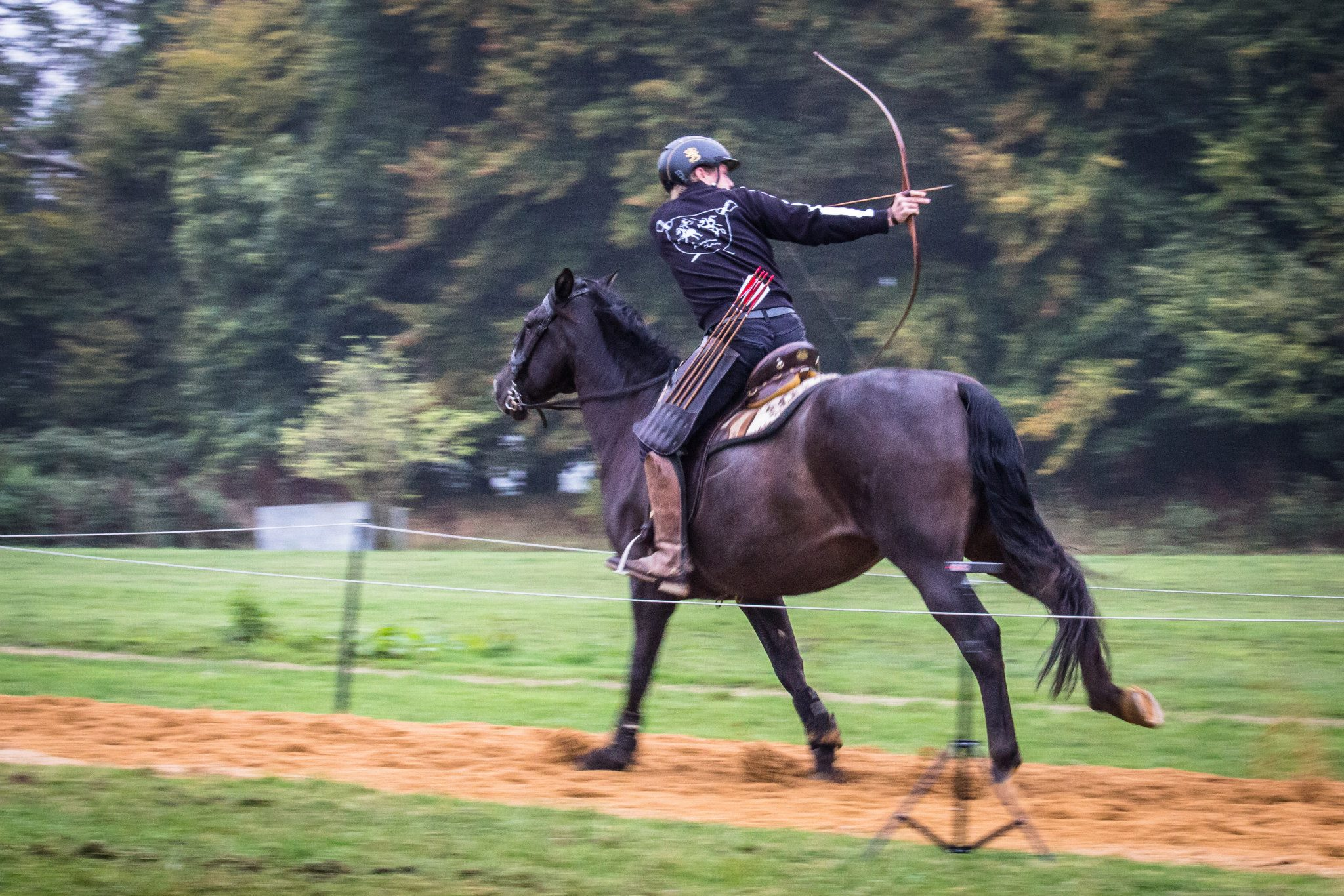 Mounted archery, ratsastusjousiammunta, UK GP 2014, Hemel Hempstead, The Centre of Horseback Combat