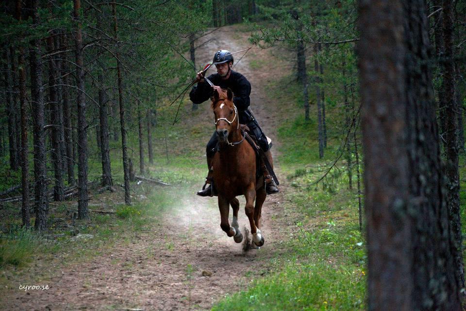 ratsastusjousiammunta maastoradalla, Hunt Track, Sweden, Dalecarlian Horse Adventures, kuva: cyroo.se