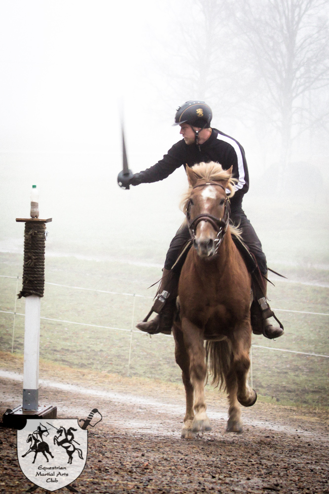 Highland broadword training with horse